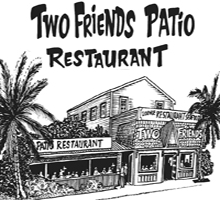 Two Friends Patio restaurant logo