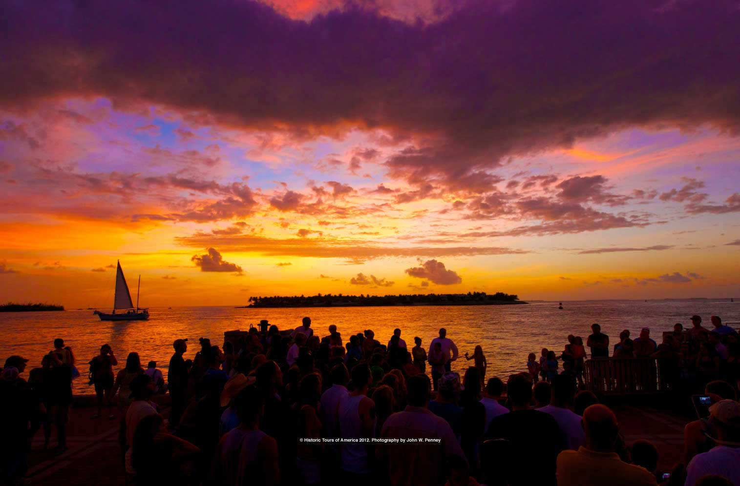 Sunset over Mallory Square