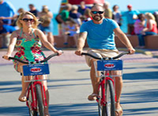 Couple riding Fury bikes in Key West