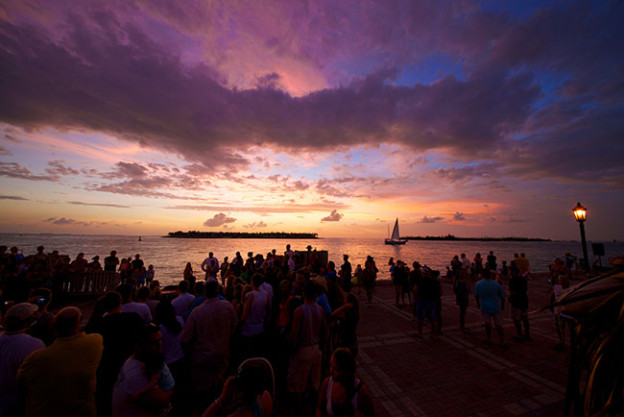 Purple Sunset View From Mallory Square