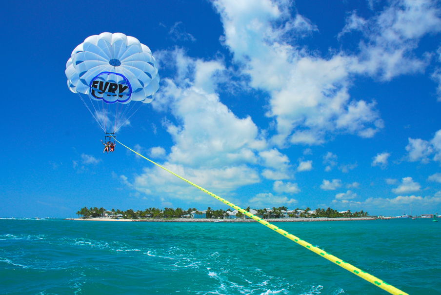 Image of people parasailing at Fury Ultimate Adventure