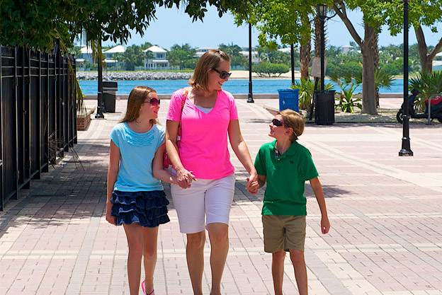 Family Walking Around Key West