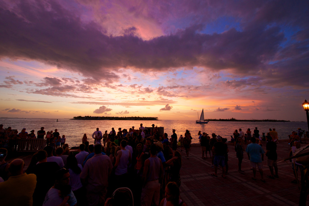 Sunset celebration in Key West
