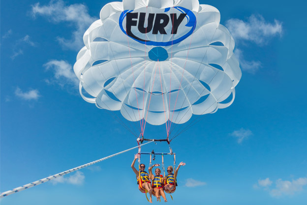 People on a Fury parasail