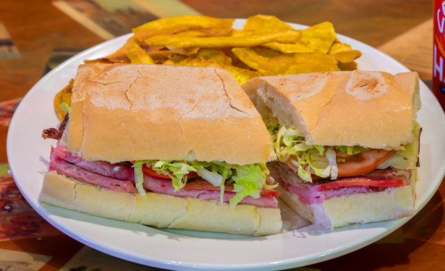 cuban sandwich from el meson de pepe