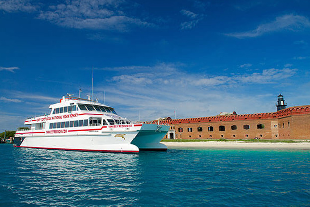yankee freedom ferry at the dry tortugas